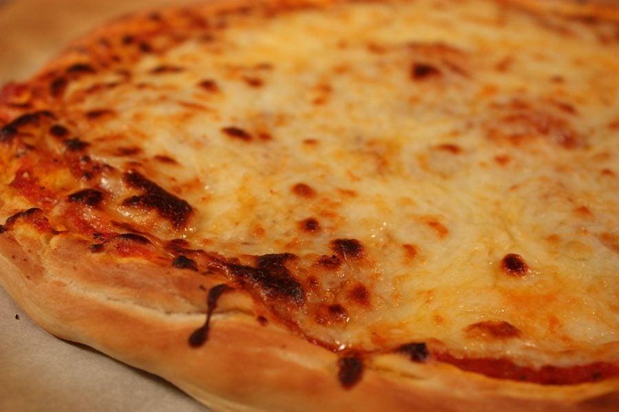 Homemade Pizza Dough baked into a pizza