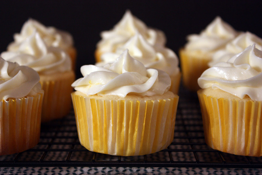 Lemon Cupcakes on a wire rack