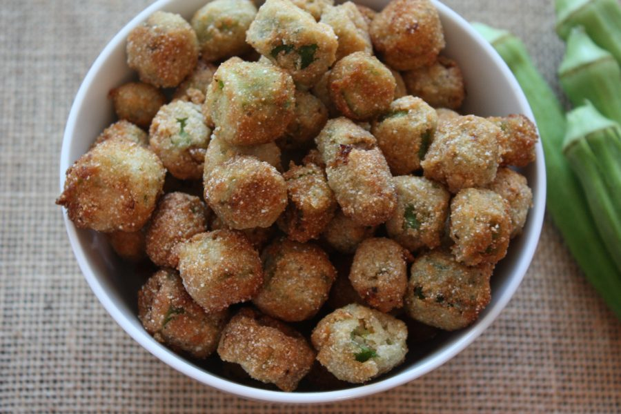 Fried Okra - Crispy, crunchy outside tender flavorful inside.