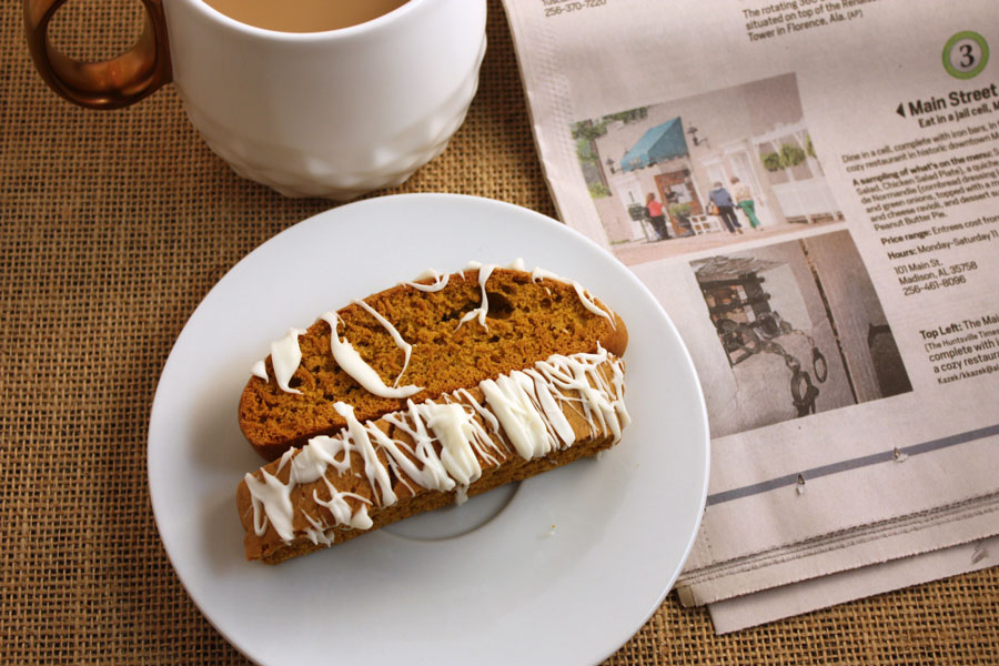 Pumpkin Spice Latte Biscotti - Biscotti with a wonderful pumpkin spice and a little kick.