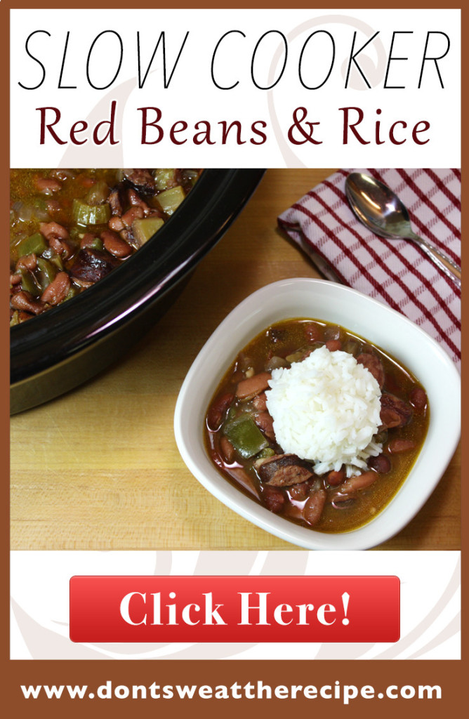Slow Cooker Red Beans & Rice - Dinner almost prepares it's self with this recipe. Full of Cajun flavor!