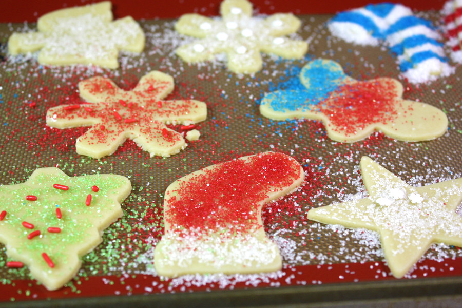 Sugar Cookies on a silicone baking mat
