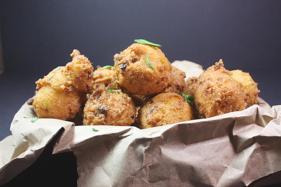 Jalapeno hushpuppies don 39 t sweat the recipe for Cornmeal fish fry batter