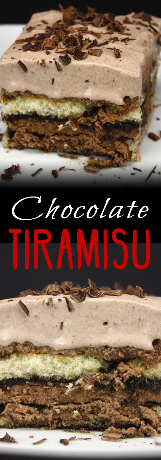 Chocolate Tiramisu - A delicious twist on a classic elegant dessert!