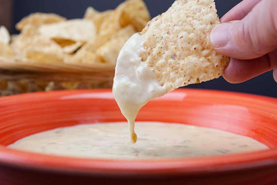 Restaurant Style Queso Dip - No Velveeta, no cream cheese! This stuff is SO GOOD!