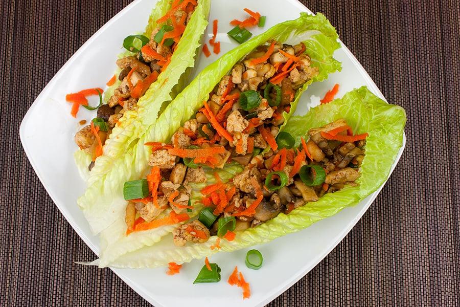 Vegetarian Lettuce Wraps - Don't Sweat The Recipe