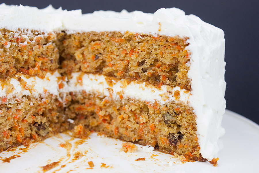 Best Homemade Carrot Cake - Look no further! Moist, tender, perfectly spiced topped with a whipped cream cheese frosting.