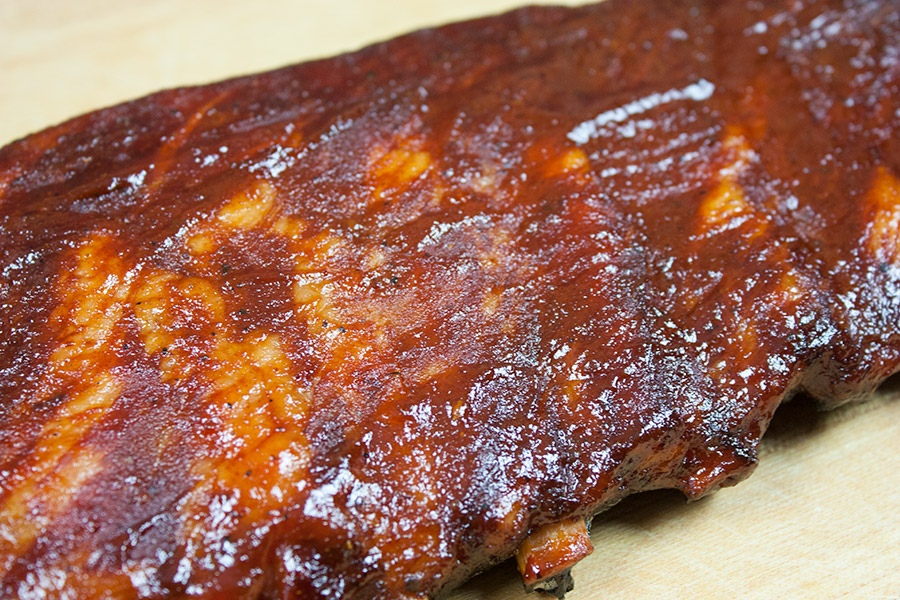 closeup of the St Louis Style Ribs