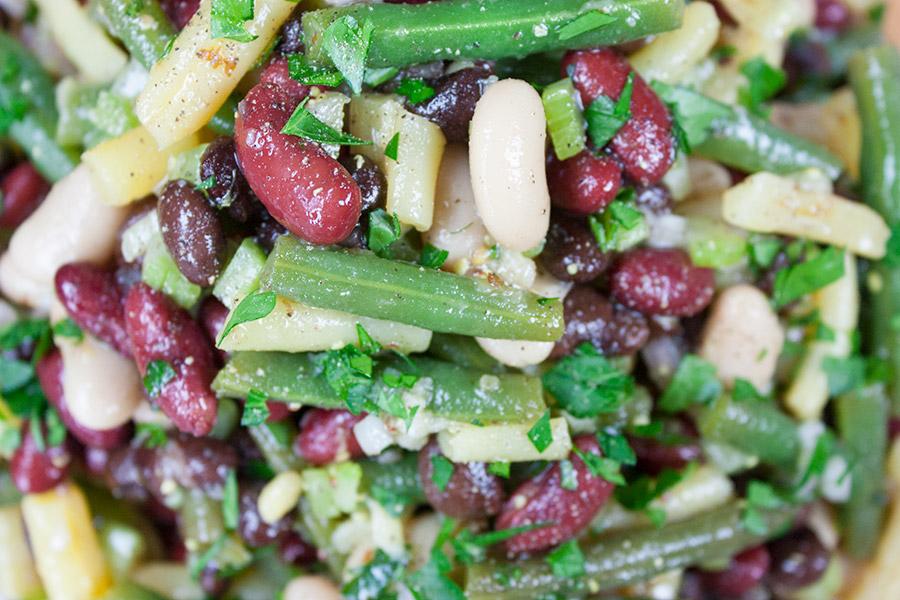 close up of Five Bean Salad