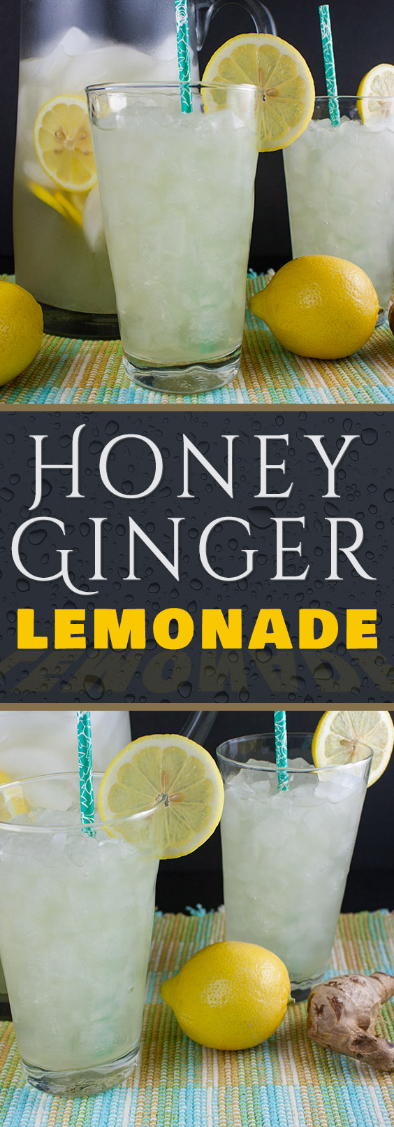 Honey Ginger Lemonade - Not only crisp and refreshing it's also healthy. Fresh, lightly sweet and tangy drink great for any time of the year.