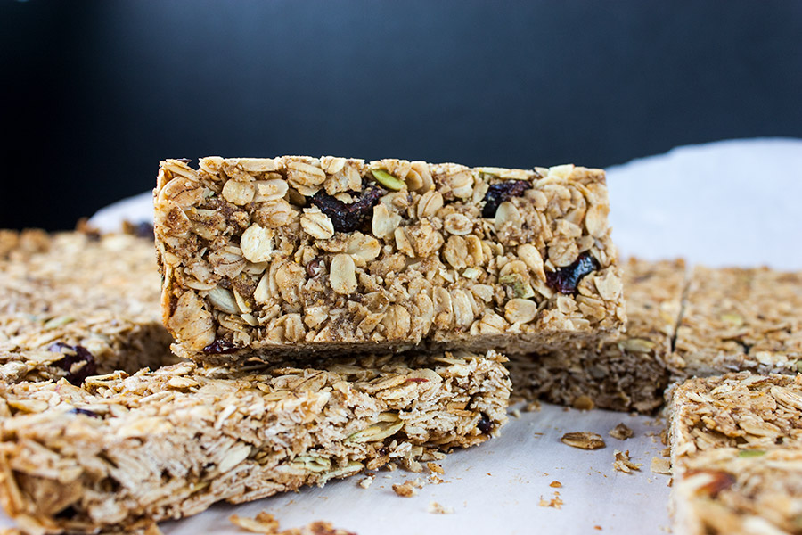 granola bars cut into serving size bars