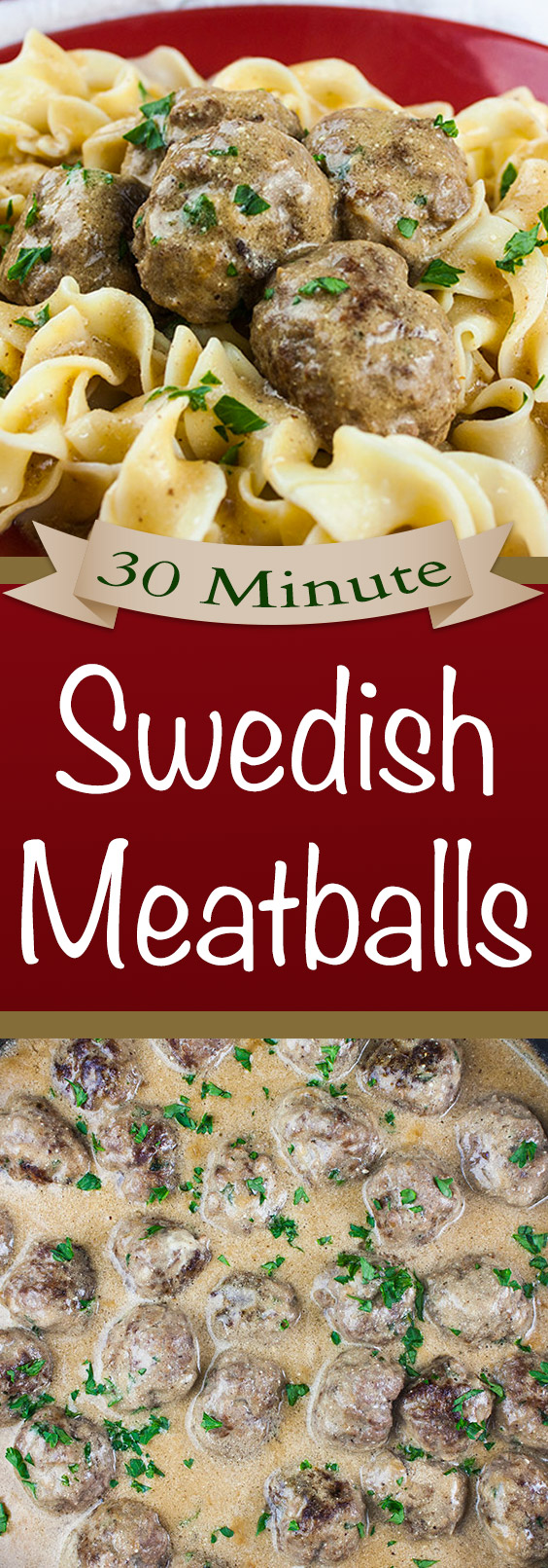 30 Minute Swedish Meatballs - Tender, juicy meatballs smothered in a rich, creamy, flavor packed gravy! Perfect weeknight meal.