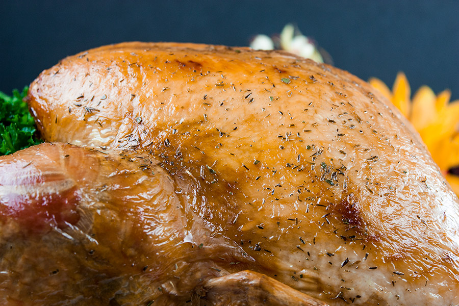 roasted golden brown whole turkey