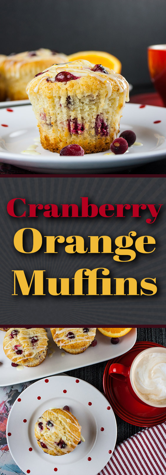 Cranberry Orange Muffins - Simply the best. A sweet buttery muffin filled with tart, juicy cranberries, orange zest, and an orange glaze.