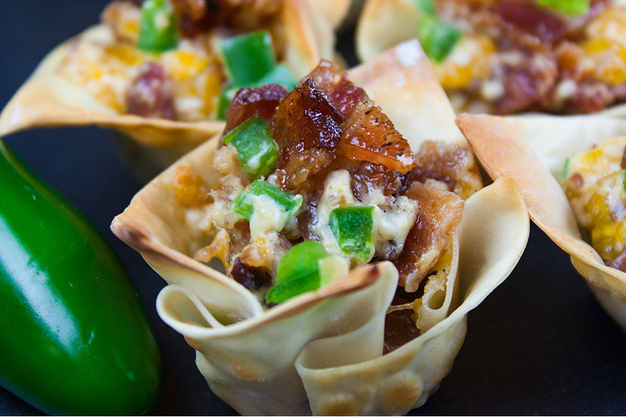 A close up image of a Candied Bacon Jalapeno Popper