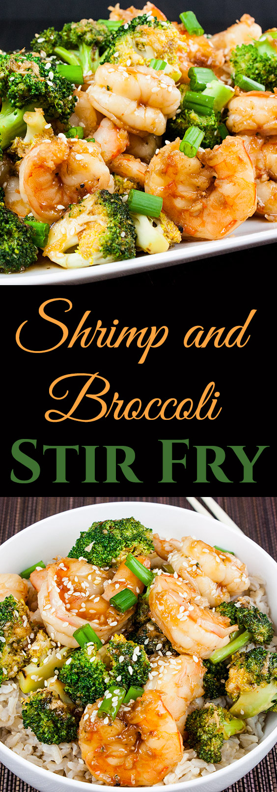 Shrimp and Broccoli Stir Fry - Ready in less than 30 minutes. Healthier and way tastier than takeout. Simple, satisfying and down right tasty! #healthy #easy #fast