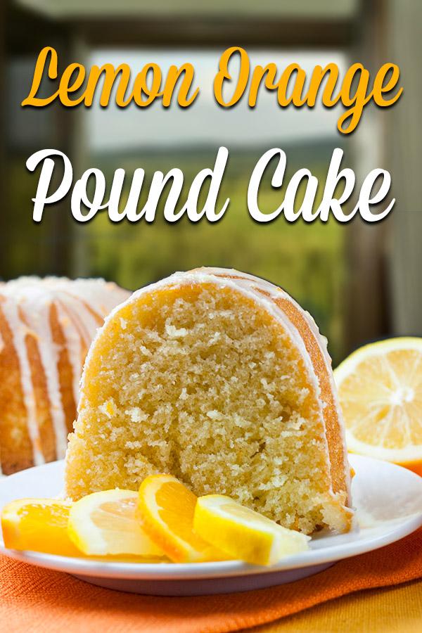 Lemon Glaze Pound Cake Powdered Sugar